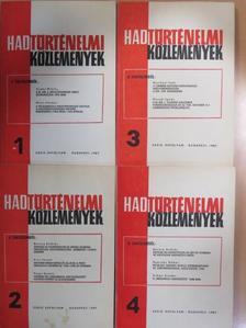 Bertényi Iván - Hadtörténelmi Közlemények 1987/1-4. [antikvár]