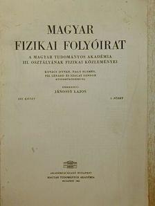Kovács István - Magyar Fizikai Folyóirat XVI. kötet 3. füzet [antikvár]