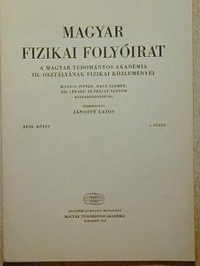 Kovács István - Magyar Fizikai Folyóirat XVIII. kötet 6. füzet [antikvár]