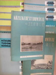 Bényei András - Közlekedéstudományi szemle 1957-1958., 1963., 1967., 1970., 1979., 1982-1983. (vegyes számok) (13 db) [antikvár]