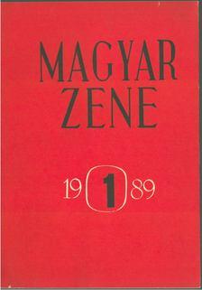Breuer János - Magyar zene 1989/1 [antikvár]