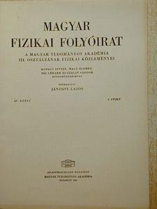 Kovács István - Magyar Fizikai Folyóirat XV. kötet 4. füzet [antikvár]
