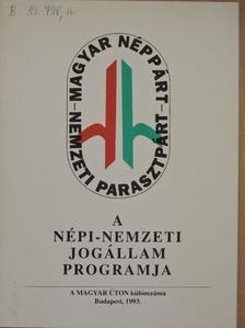 Dr. Borók Imre - A népi-nemzeti jogállam programja [antikvár]