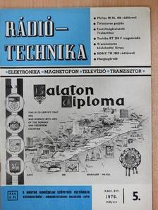 Bassó Andor - Rádiótechnika 1976. május [antikvár]