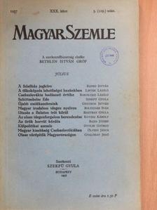 Bajza József - Magyar Szemle 1937. július [antikvár]