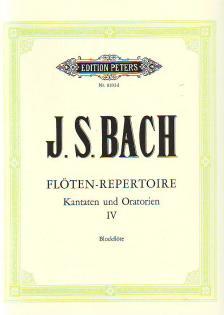 J. S. Bach - FLÖTEN-REPERTOIRE IV: KANTATEN UND ORATORIEN FÜR BLOCKFLÖTE