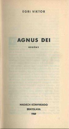 Egri Viktor - Agnus dei [antikvár]