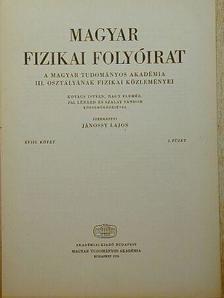 Kovács István - Magyar Fizikai Folyóirat XVIII. kötet 2. füzet [antikvár]