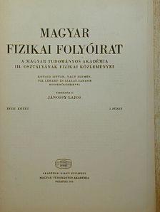 Kovács István - Magyar Fizikai Folyóirat XVIII. kötet 3. füzet [antikvár]