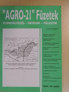 """Bartholy Judit - """"AGRO-21"""" Füzetek 2004/33. [antikvár]"""