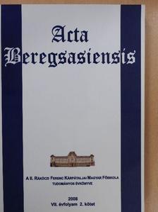 Bárány Béla - Acta beregsasiensis 2008/2. [antikvár]