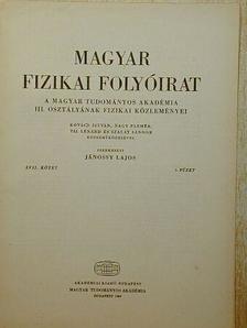 Kovács István - Magyar Fizikai Folyóirat XVII. kötet 6. füzet [antikvár]