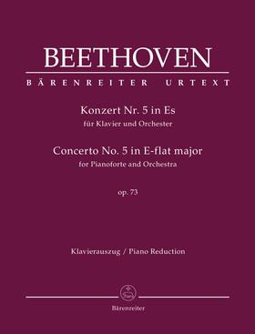 BEETHOVEN - KONZERT NR.5 IN ES FÜR KLAVIER UND ORCHESTER OP.73. KLAVIERAUSZUG + PIANOFORTE STIMME