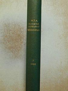 Fodor Gábor - A Magyar Tudományos Akadémia Kémiai Tudományok Osztályának Közleményei [antikvár]
