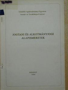 Dr. Bíró Sándor - Jogtani és alkotmányjogi alapismeretek [antikvár]