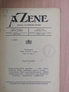 Boros Rezső - A Zene 1936. november 2. [antikvár]
