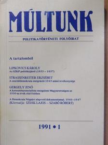 Balogh László - Múltunk 1991/1. [antikvár]