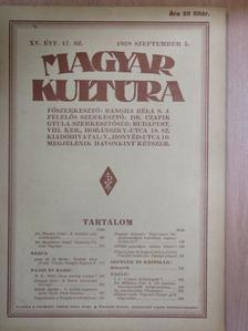B. B. - Magyar Kultúra 1928. szeptember 5. [antikvár]