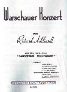 ADDINSELL, RICHARD - WARSCHAUER KONZERT FÜR 2 PIANOS VIERHAENDIG