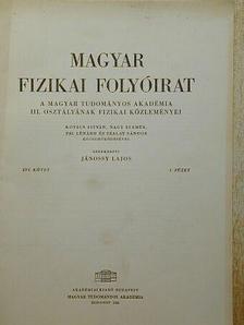 Kovács István - Magyar Fizikai Folyóirat XVI. kötet 1. füzet [antikvár]