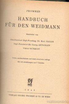 Fromme, Georg - Handbuch für den Weidmann [antikvár]