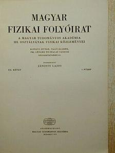 Fodor Ilona - Magyar Fizikai Folyóirat XX. kötet 6. füzet [antikvár]