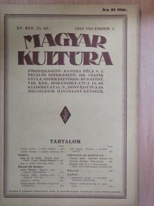Bangha Béla S. J. - Magyar Kultúra 1928. december 5. [antikvár]