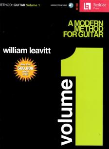 LEAVITT, WILLIAM - A MODERN METHOD FOR GUITAR VOLUME 1 - BERKLEE PRESS METHOD (CD INCLUDED)