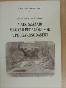 Dombi Alice - A XIX. századi magyar pedagógusok a polgárosodásért [antikvár]