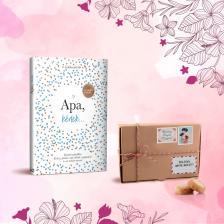 Könyvölelés Apák napjára - Apa, kérlek... + Les Cadeaux de Flore keksz
