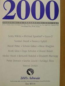 Aczél Géza - 2000 2003. február [antikvár]