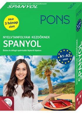 PONS Nyelvtanfolyam kezdőknek - Spanyol (könyv+CD)