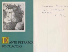 Kardos Tibor - Dante, Petrarca, Boccaccio (Kardos Tibor által dedikált) [antikvár]