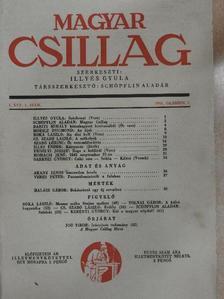 Babits Mihály - Magyar Csillag 1941. október [antikvár]