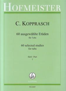 KOPPRASCH, C. - 60 AUSGEWAEHLTE ETÜDEN FÜR TUBA HEFT 1