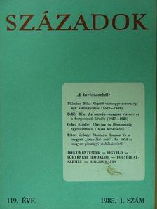 A. A. Gorszkij - Századok 1985. (nem teljes évfolyam) [antikvár]