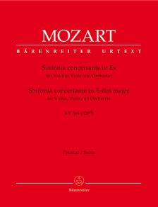MOZART, W,A, - SINFONIA CONCERTANTE IN ES FÜR VIOLINE, VIOLA & ORCHESTER KV 364 PARTITUR
