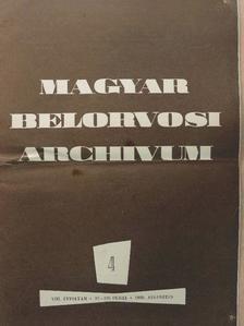 Dr. Aszódi Lili - Magyar Belorvosi Archivum 1960. augusztus [antikvár]