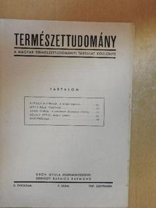 Bulla Béla - Természettudomány 1947. szeptember [antikvár]