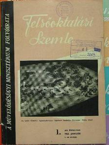 Barcza József - Felsőoktatási Szemle 1963. január-december [antikvár]