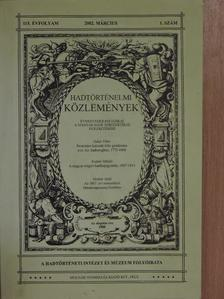 Bencze László - Hadtörténelmi Közlemények 2002. március [antikvár]