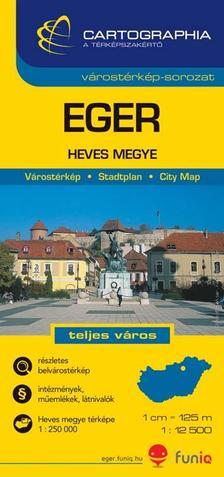 """Cartographia Kiadó - EGER VÁROSTÉRKÉP - """"SC"""" 1:12500"""