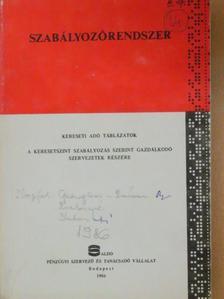 Dr. Garzó András - Kereseti adó táblázatok [antikvár]