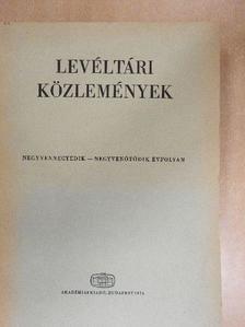 Balázs Péter - Levéltári közlemények XLIV-XLV. [antikvár]