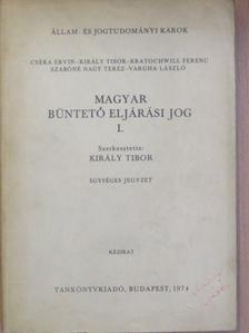 Cséka Ervin - Magyar büntető eljárási jog I. [antikvár]