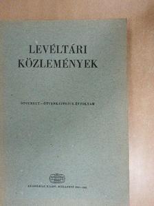 Bakács István - Levéltári közlemények LI-LII. [antikvár]