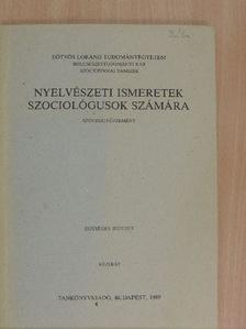 D. G. Hays - Nyelvészeti ismeretek szociológusok számára [antikvár]