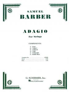 BARBER - ADAGIO FOR STRINGS (SCORE AND PARTS)