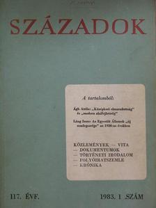Ágh Attila - Századok 1983/1. [antikvár]