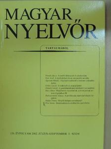 Ágoston Mihály - Magyar Nyelvőr 2002. július-szeptember [antikvár]